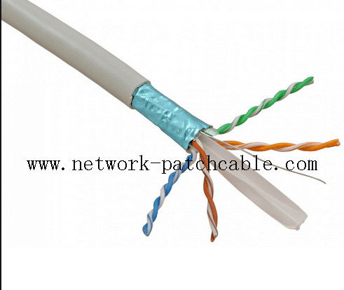 Computer 4P Cat6 FTP Cable 23AWG Network Cable with Earth wire