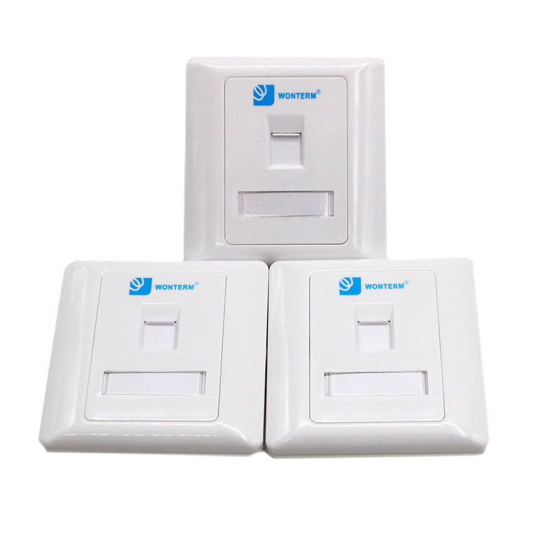 86*86 RJ45 Jack Modular Keystone Faceplate , Single / 2 Port Faceplate